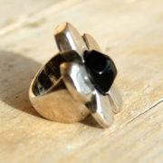 Ring Flower Power Black